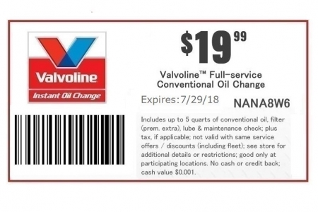 Valvoline Instant Oil Change 19.99 Coupon | www.jpkmotors.com